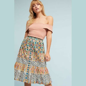 New Anthropologie Tiered Astrid Tanvi Kedia Skirt